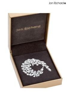 Jon Richard Crystal Curl Brooch in a Gift Box