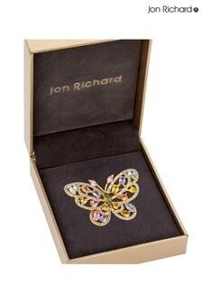 Jon Richard Cubic Zirconia Butterfly Brooch in a Gift Box