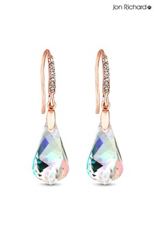 Jon Richard Aurelia Borealis Helix Earrings Made With Swarovski Crystals