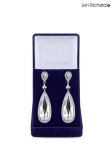 Jon Richard Cubic Zirconia Large Crystal Pear Drop Earrings in a Gift Box