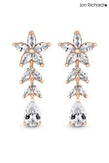 Jon Richard Cubic Zirconia Floral Earrings