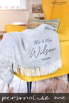 Personalised Anniversary Throw by Jonny's Sister