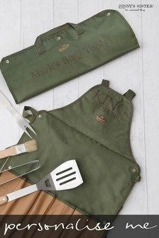 Personalised BBQ Apron and Tools Bag by Jonny's Sister