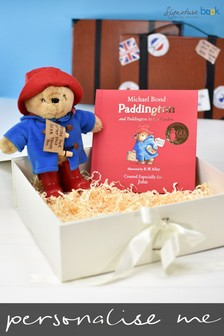 Personalised Paddington Story Book And Plush Toy Gift Set by Signature Book Publishing