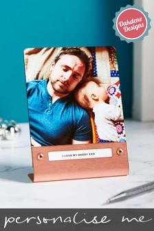 Personalised Copper Metal Photo Frame With Photo by Oakdene Designs