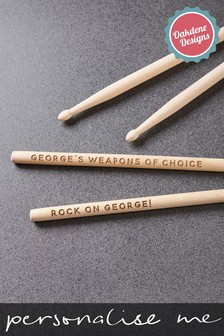 Personalised Wooden Drum Sticks by Oakdene Designs
