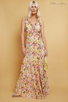 Little Mistress Lykke Floral-Print Maxi Wrap Dress