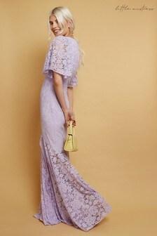 Little Mistress Wilmer Lace Fishtail Maxi Dress