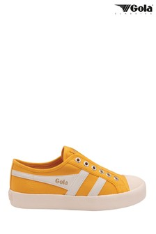 Gola Coaster Slip Canvas Lace Up Trainers