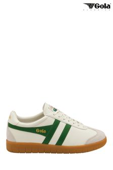 Gola Men's Hurricane Leather Lace-Up Trainers