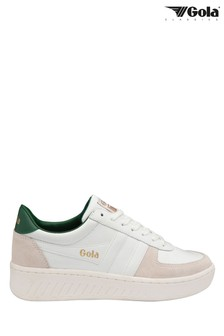 Gola Men's Grandslam Classic Leather Lace-Up Trainers