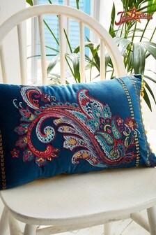 Joe Browns Paisley Embroidered Cushion
