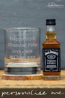 Personalised Tumbler With JD Whiskey by Signature Gifts