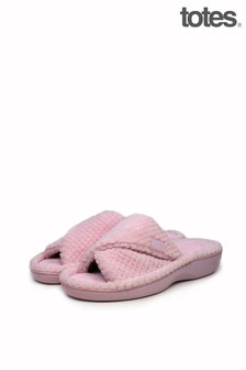 Totes Popcorn Turnover Open Toe Slippers