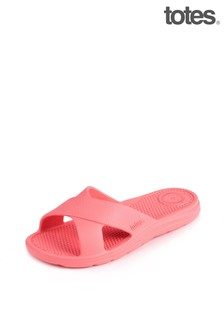 Totes Ladies Bounce Double Strap Slider Sandals