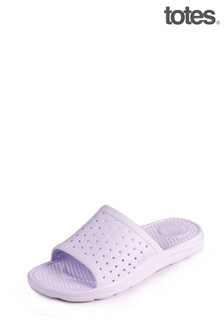 Totes Ladies Bounce Perferated Slide Sandals