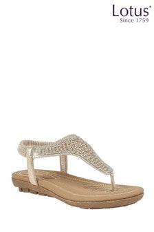 Lotus Footwear SlipOn Toe Post Sandals