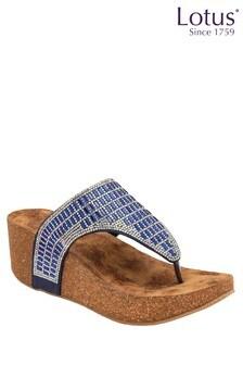 Lotus Footwear ToePost Wedge Sandals