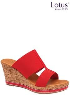 Lotus Footwear SlipOn Wedge Sandals