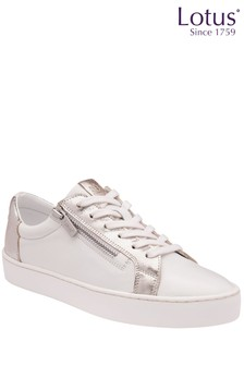 Lotus Footwear Leather Zip Up Casual Shoes