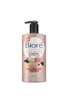 Biore Rose Quartz & Charcoal Daily Purifying Face Wash Cleanser 200ml