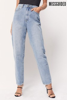 Missguided Blue Denim Riot Mom Jeans