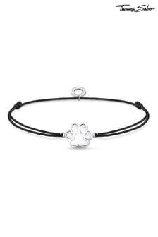 Thomas Sabo Fabric Bracelet with Dog Paw Charm