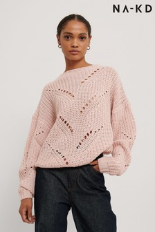 NA-KD Hole Knit Sweater