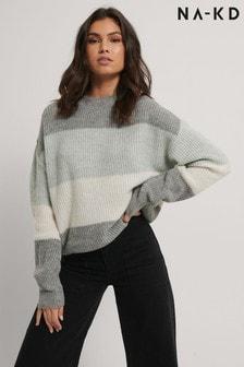 NA-KD Striped Knitted Jumper