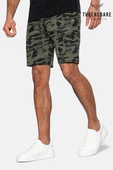 Threadbare Lukan Camo Print Sweat Shorts