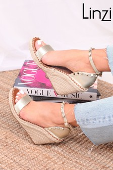 Linzi Prosecco Espadrille Wedge With Studded Detail