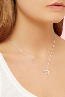 Estella Bartlett Chubby Interlinked Rings Cubic Zirconia Necklace