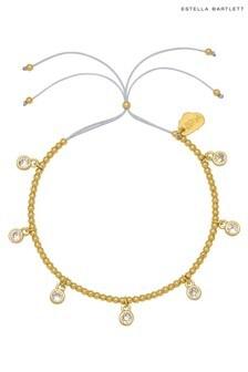 Estella Bartlett Multi Cubic Zirconia Charm and Beaded Bracelet