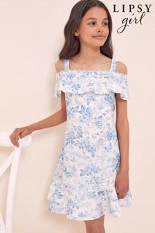 Lipsy Occasion Bardot Lace Trim Dress