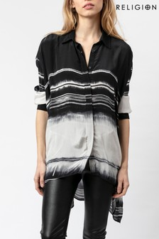Religion Overszied Loose Fitting Shirt