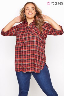 Yours Check Boyfriend Shirt