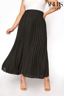 Yours Chiffon Pleated Maxi Skirt