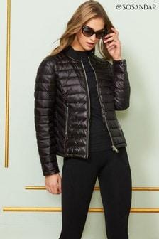 Sosandar Lightweight Short Padded Coat With Pockets