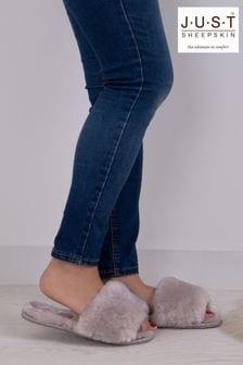 Just Sheepskin Lily Open Toe Slider Slipper