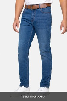 Threadbare Penrith Belted Straight Leg Jeans