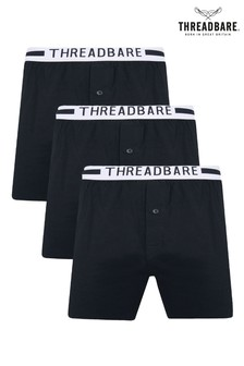 Threadbare 3 Pack George Hipster Jersey Boxers