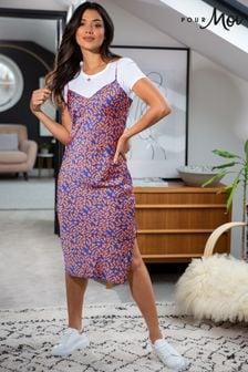 Pour Moi Margot Woven Satin Cami Midi Dress