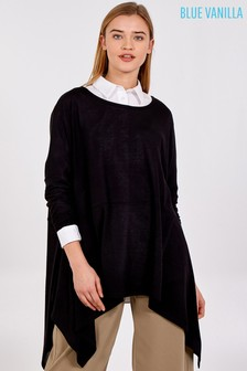 Blue Vanilla Oversized Hankey Hem Top