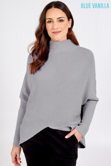 Blue Vanilla Turtle Neck Long Sleeve Jumper