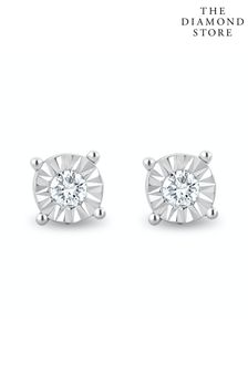 The Diamond Store Lab Diamond Stud Earrings 5mm 0.10ct H/Si