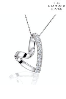 The Diamond Store Lab Diamond Heart Pendant Necklace 0.10ct H/SI