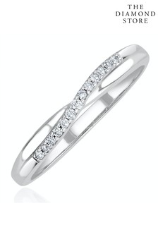 The Diamond Store Lab Diamond Half Eternity Wave Ring 0.05ct