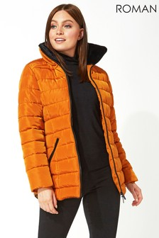Roman Short Zip Through Padded Coat