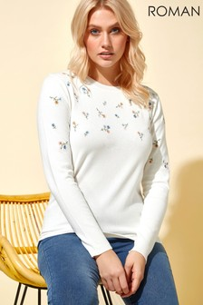 Roman Floral Embroidered Jumper