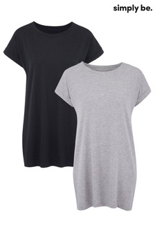 Simply Be 2 pack Boyfriend T shirts
